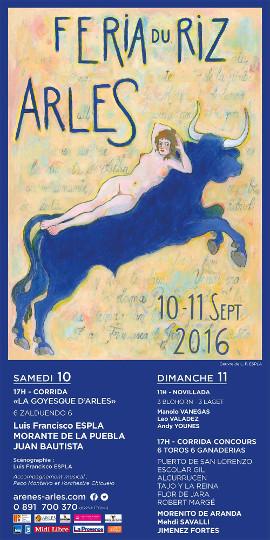 Affiche Feria Riz 2016 Arles