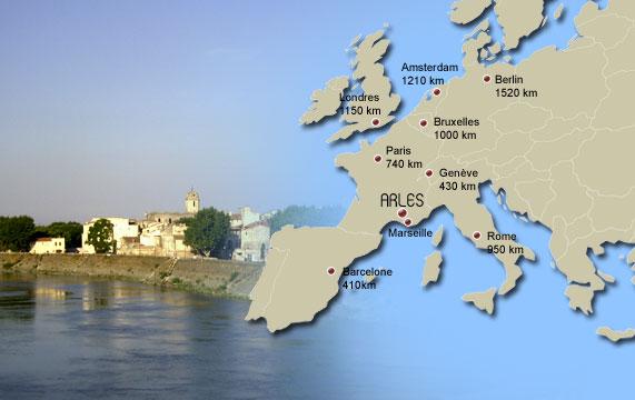 Cartina Della Francia Con Monumenti.Mappa Della Citta Arles Cartina Arles Ufficio Del Turismo Di Arles Francia